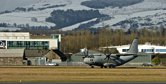 C-130 aircraft at Glasgow Airport