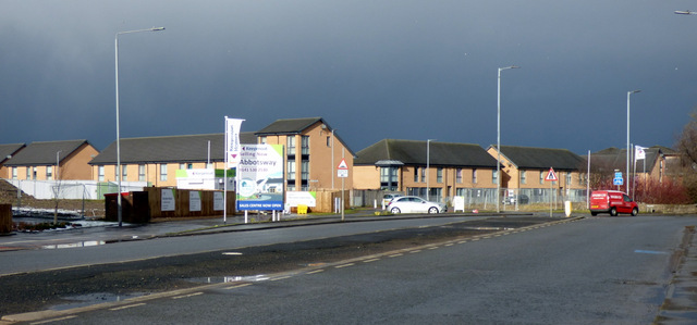 Dark sky over Inchinnan Road