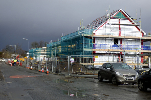 New houses at Mosslands Road