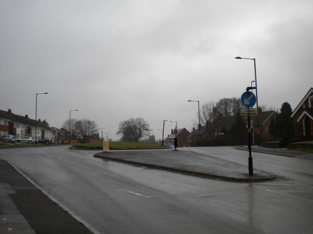 South end of dual carriageway, Priory Road, Yardley Wood