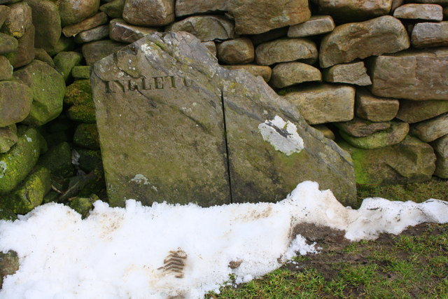 Boundary stone beside Cam High Road near junction with B6255