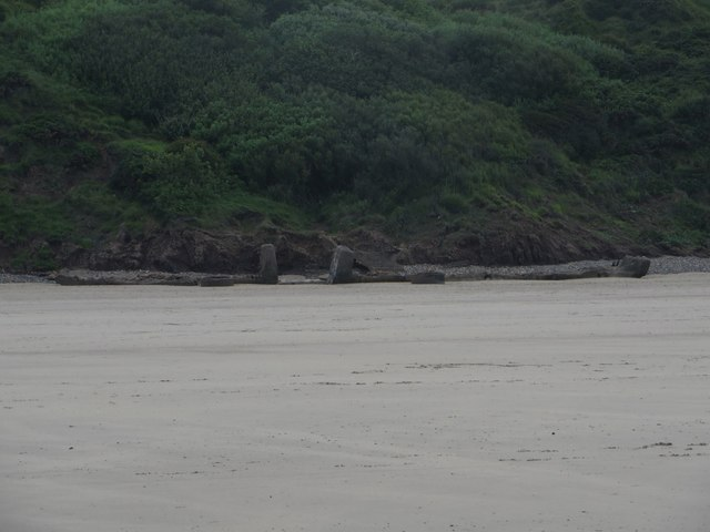 Concrete on the beach, Hunmanby Sands