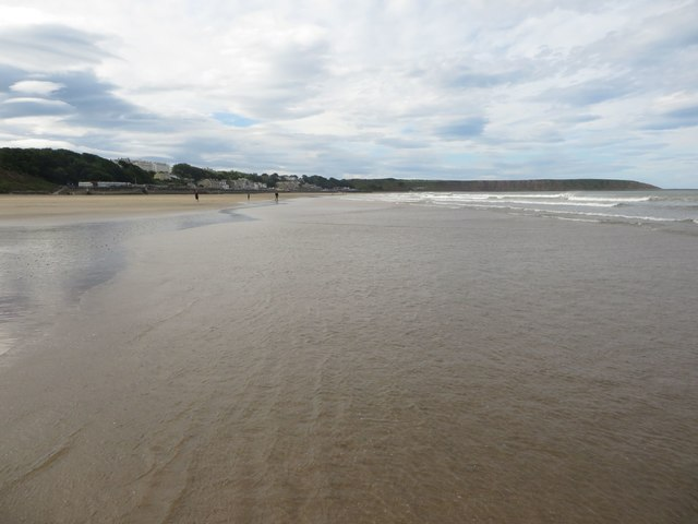 Low tide at Muston Sands