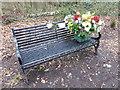 TQ4677 : A romantic memorial bench by Marathon