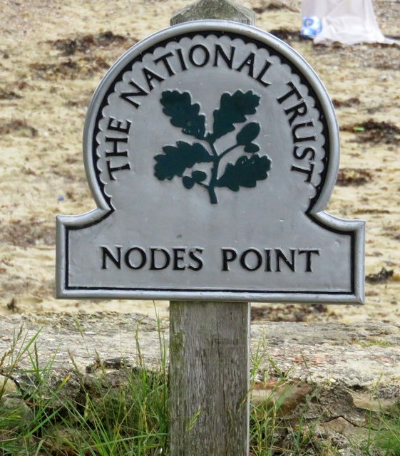 National Trust sign by Nodes Point