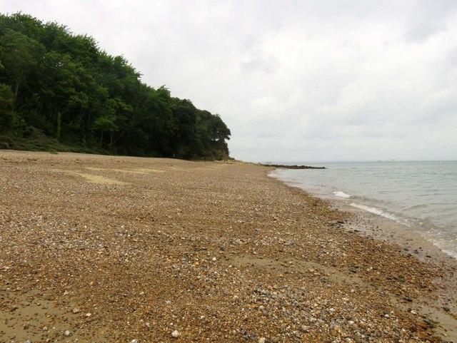 The beach near Nodes Point