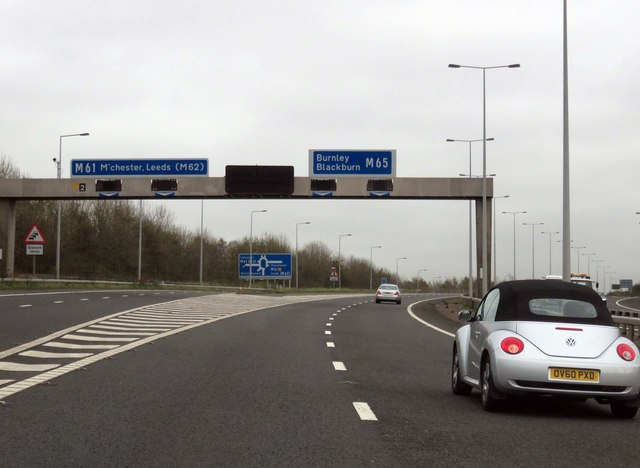 Junction 2 on the M65