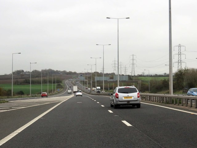 The M65 heading east