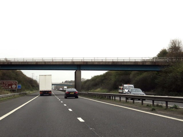 The M65 runs under Marsh Lane