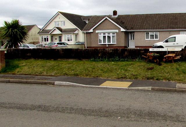Wooden wheelbarrows for sale, Main Road, Portskewett