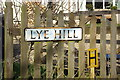TL1421 : Lye Hill sign by Geographer