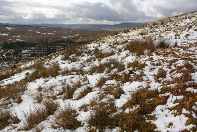 Snowy moorland at Middle Bank Hill