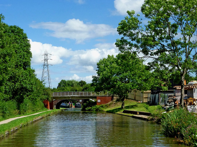 Canal near Kettlebrook in Staffordshire