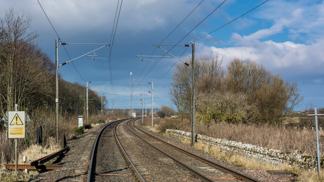 East Coast Mainline at Beal level crossing