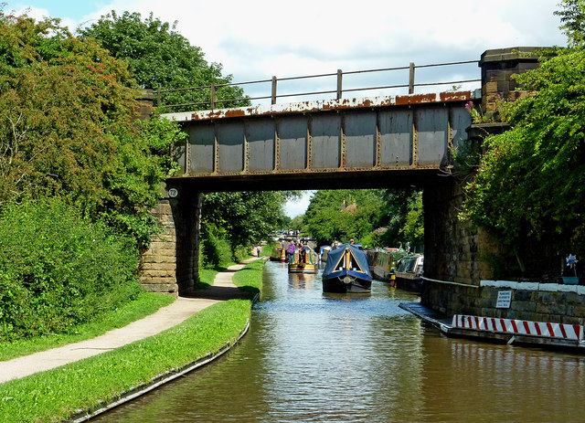 Railway bridge across the canal at Kettlebrook, Staffordshire