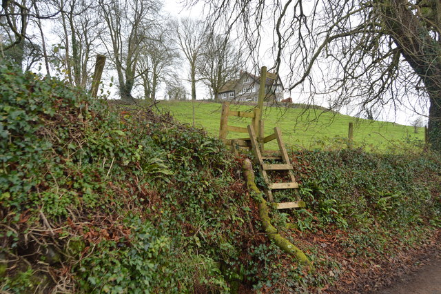 Footpath over stile