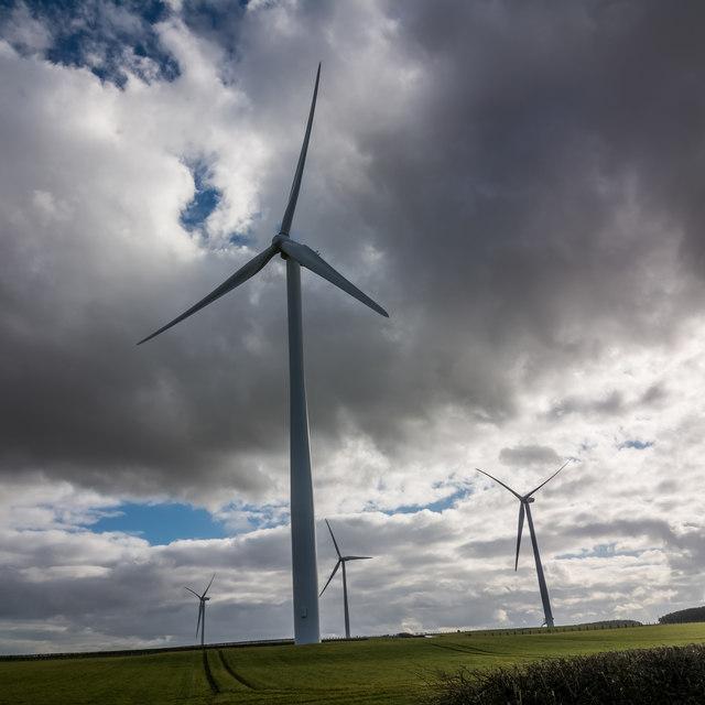 Northern turbine of Sisters Windfarm