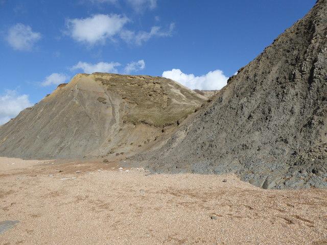 Cliffs east of Hive Beach