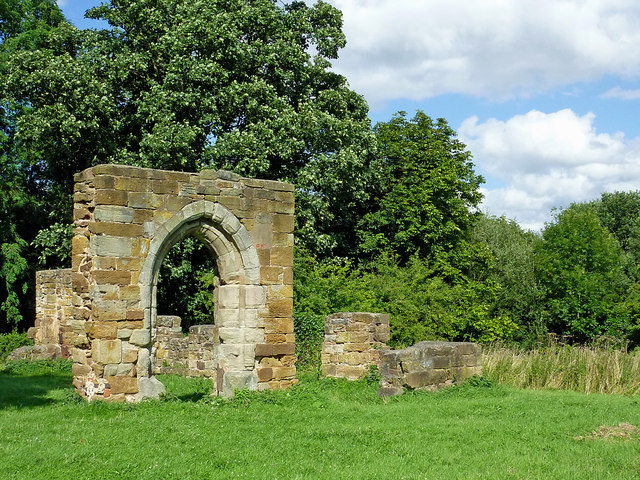 Alvecote Priory ruins in Staffordshire