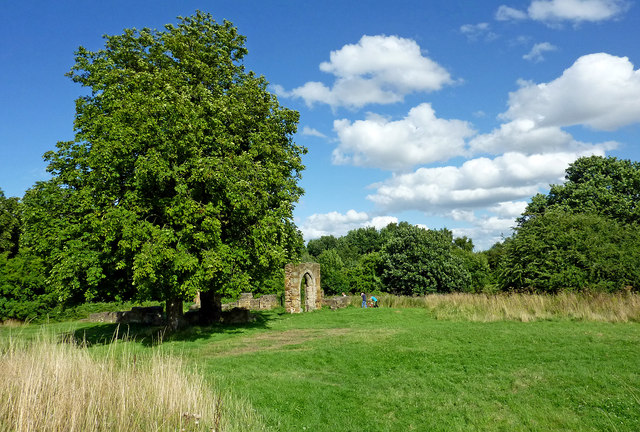 Picnic site and Alvecote Priory ruin, Staffordshire