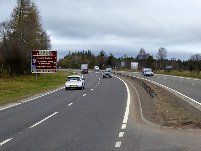 Northbound A9 towards Inverness