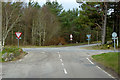 NH7445 : Road Junction near Culloden Battlefield by David Dixon