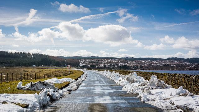 Road across the Kielder Dam