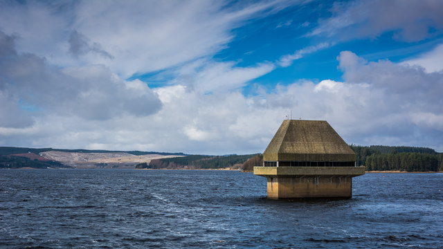Valve Tower on Kielder Reservoir