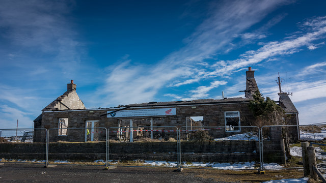 Hartside Cafe after the fire in early March 2018