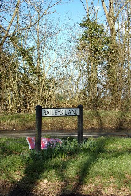 Baileys Lane sign