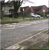 ST3096 : Shelterless bus stop, Edlogan Way, Croesyceiliog, Cwmbran by Jaggery