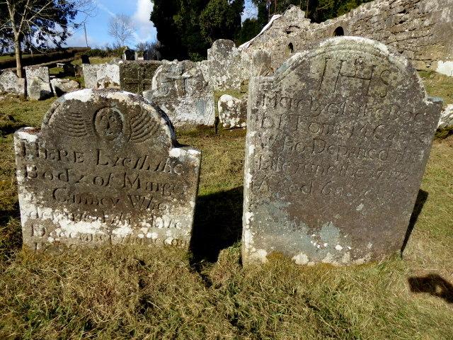 Ancient headstones, Lackagh graveyard