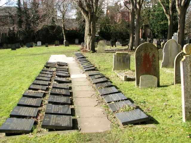 Cremation burials in the Jewish Section