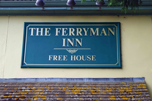 The Ferryman Inn (2) - sign, Bablock Hythe, Oxon