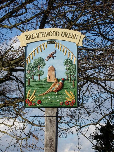 Breachwood Green Village sign