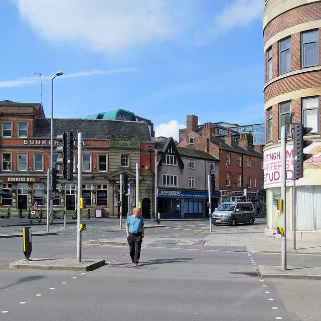 Crossing Lower Parliament Street by John Sutton