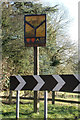 TL1523 : King's Walden Village sign by Adrian Cable