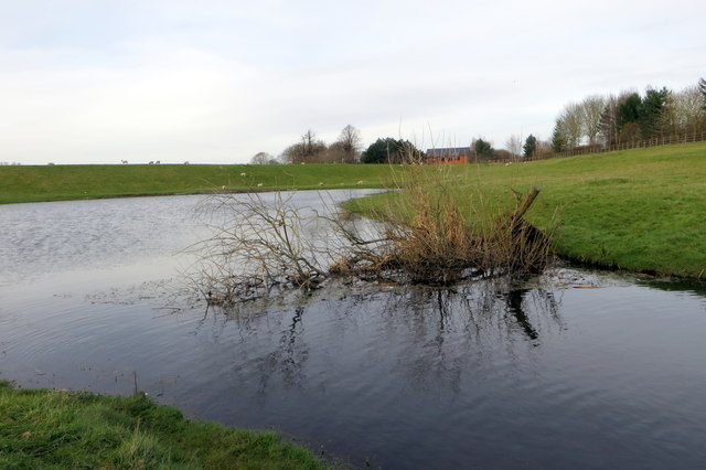 Water management lake at Wolverton Mill