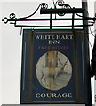 SO2603 : White Hart Inn name sign, Abersychan by Jaggery