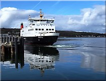 NS0964 : Ferry docking at Rothesay by Steve Houldsworth