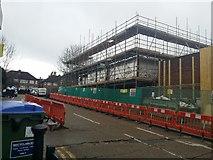 TQ2087 : Building works on Merley Court, Kingsbury by David Howard