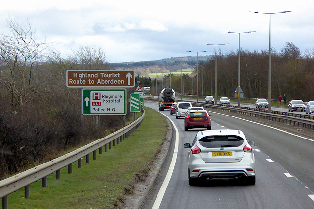 A9 Southbound at Inverness