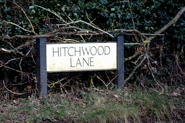 Hitchwood Lane sign