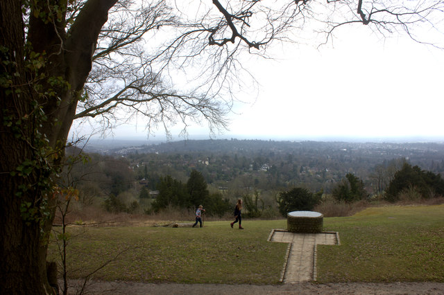 View indicator at Reigate Hill car park