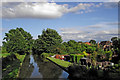 SK2602 : Coventry Canal east of Polesworth in Warwickshire by Roger  Kidd