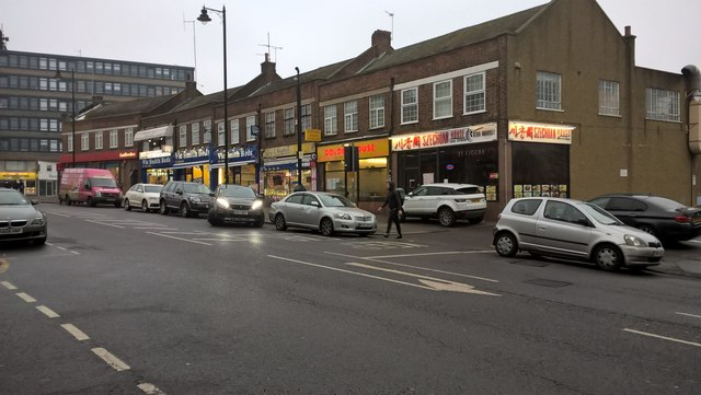 Shops on Dennis Parade, Winchmore Hill Road, Southgate