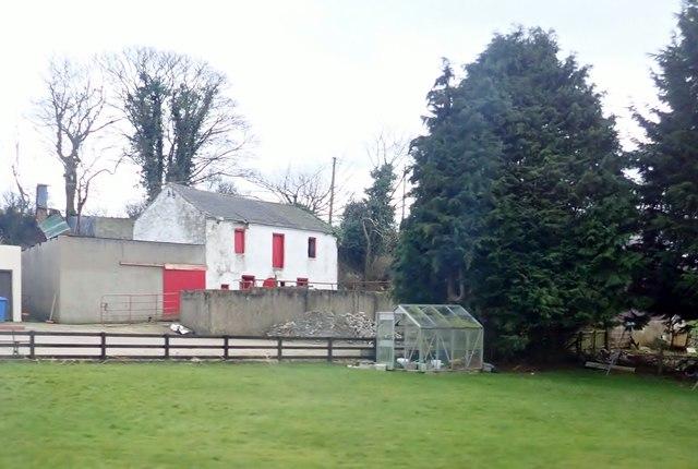 Traditional farm outbuildings near McComb's Bridge