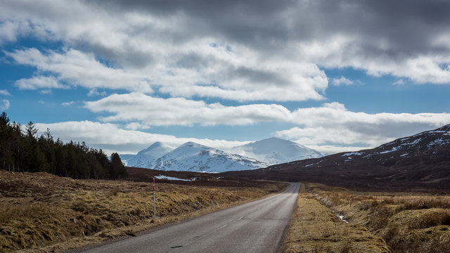 Climbing up the A832