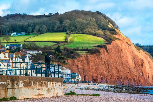 Sidmouth: View of Salcombe Hill Cliffs