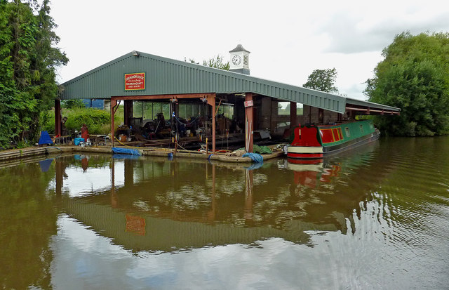 Boatyard at Grendon Dock, Warwickshire